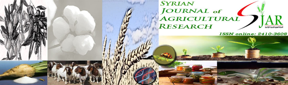 Syrian Journal of Agricultural Research SJAR